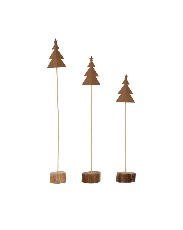 Sand Paper Tree (Set of 3)