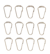 Satin Nickel Shower Hooks (Set of 12)