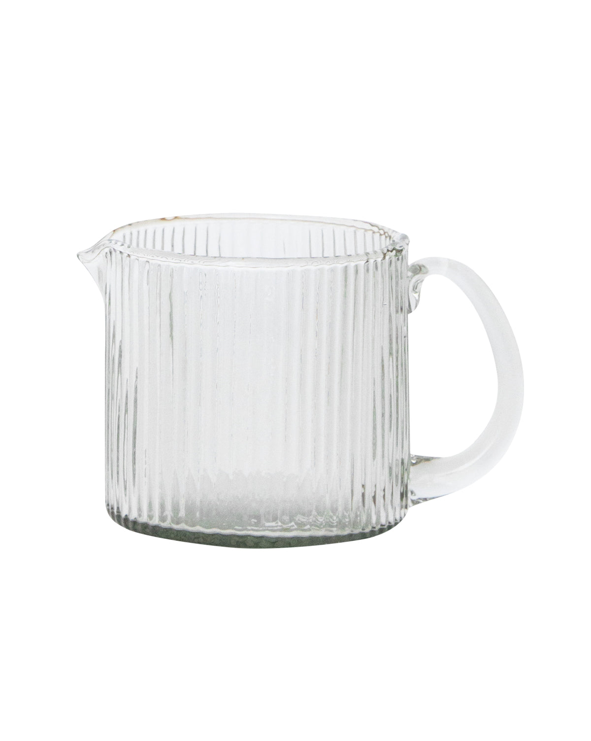 Scalloped Glass Pitcher