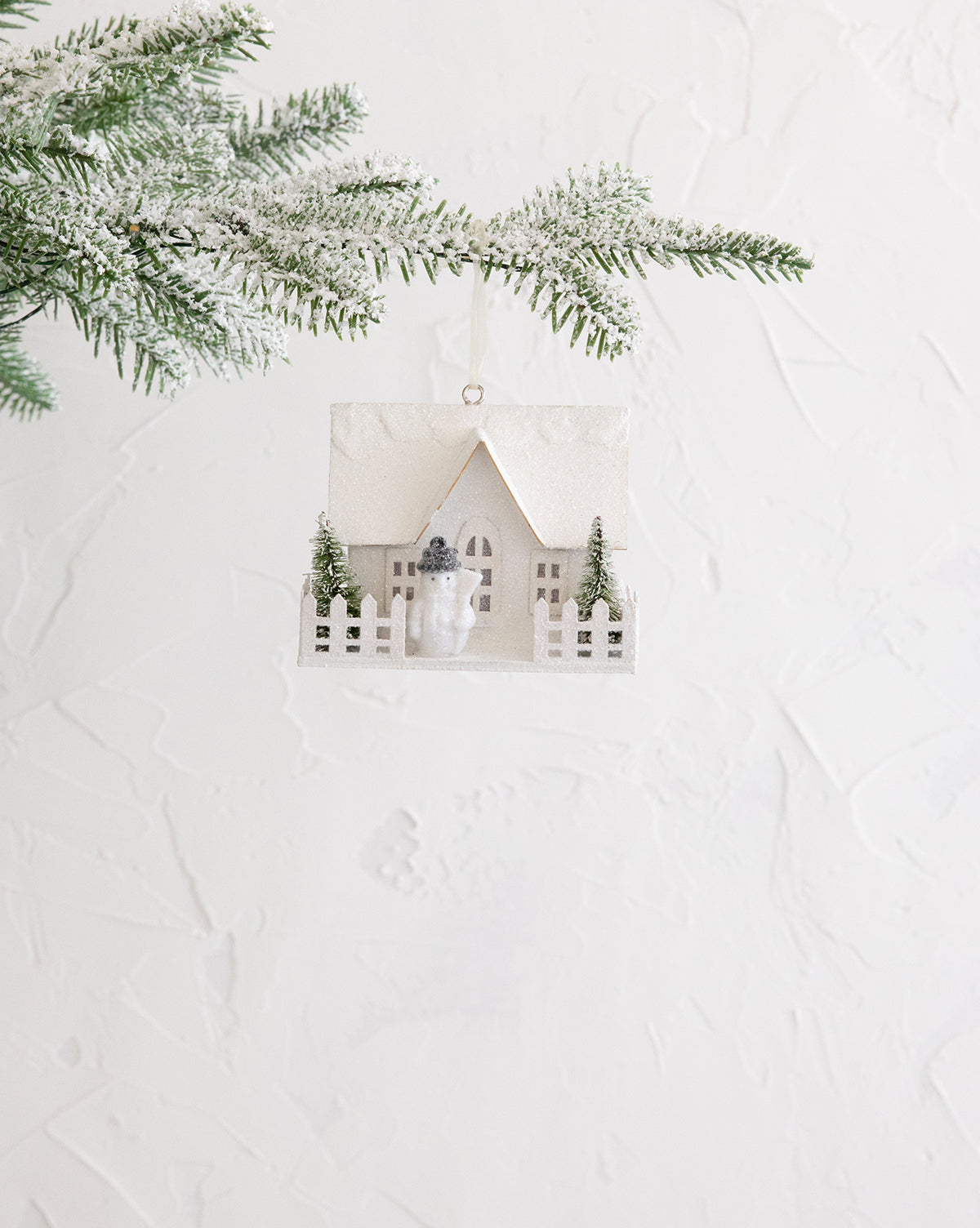 Snowy House Ornament