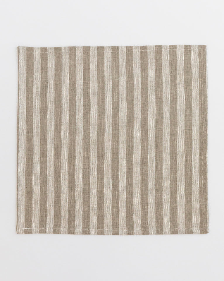 Square Stripe Cotton Napkins (Set of 4)