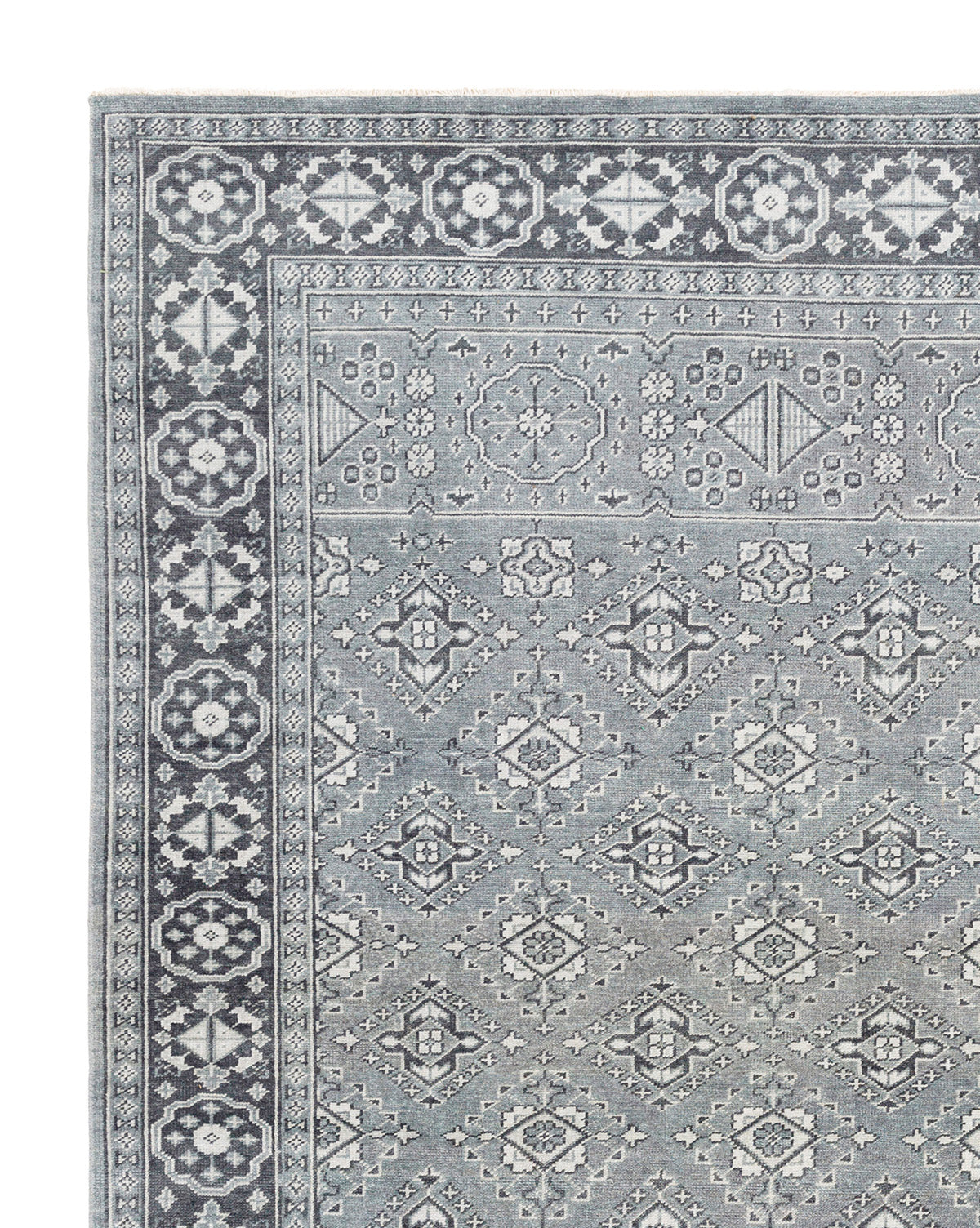 St. Cloud Teal Hand-Knotted Rug
