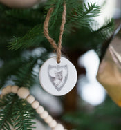 Stamped Stoneware Ornaments (Set of 6)