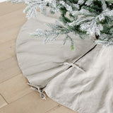 Stitch Trim Linen Tree Skirt
