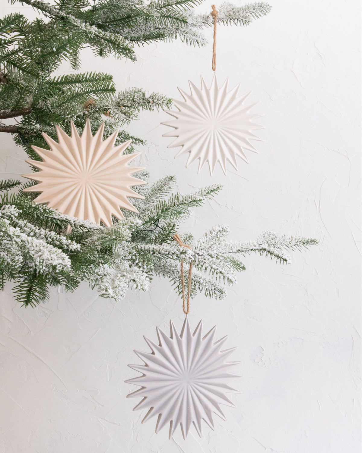 Starburst Stoneware Ornaments (Set of 3)