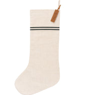 Striped Linen Stocking