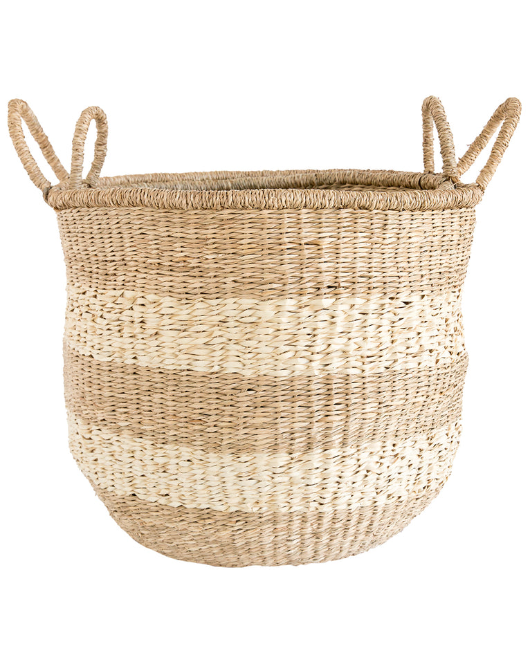 Striped Round Baskets