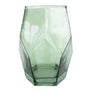 Faceted Green Vase