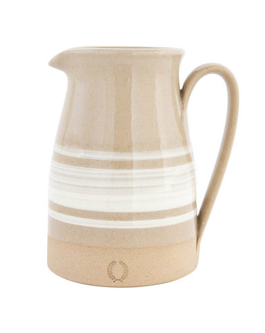Tan Striped Pitcher