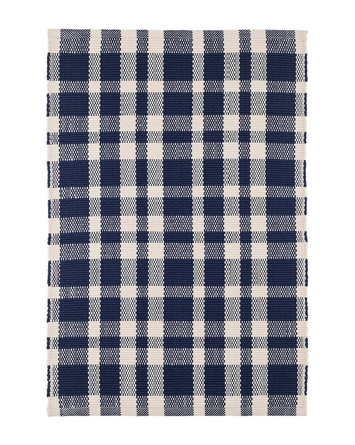 Tattersal Indigo Indoor / Outdoor Rug