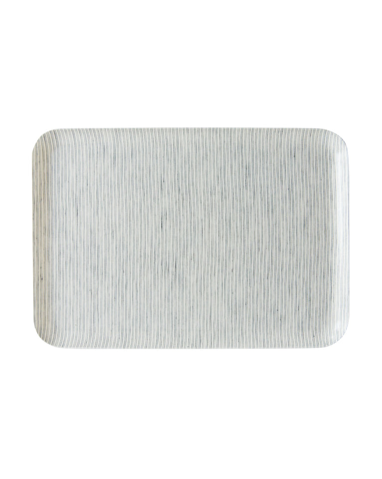 Thin Stripe Linen Tray
