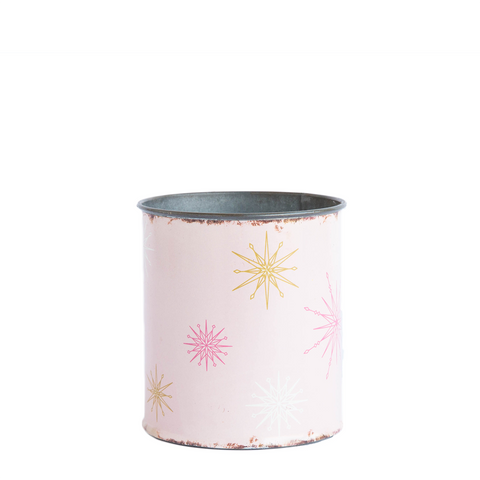 Pink Star Tin Pot