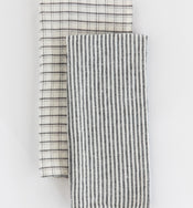 Checkered Gray Hand Towel