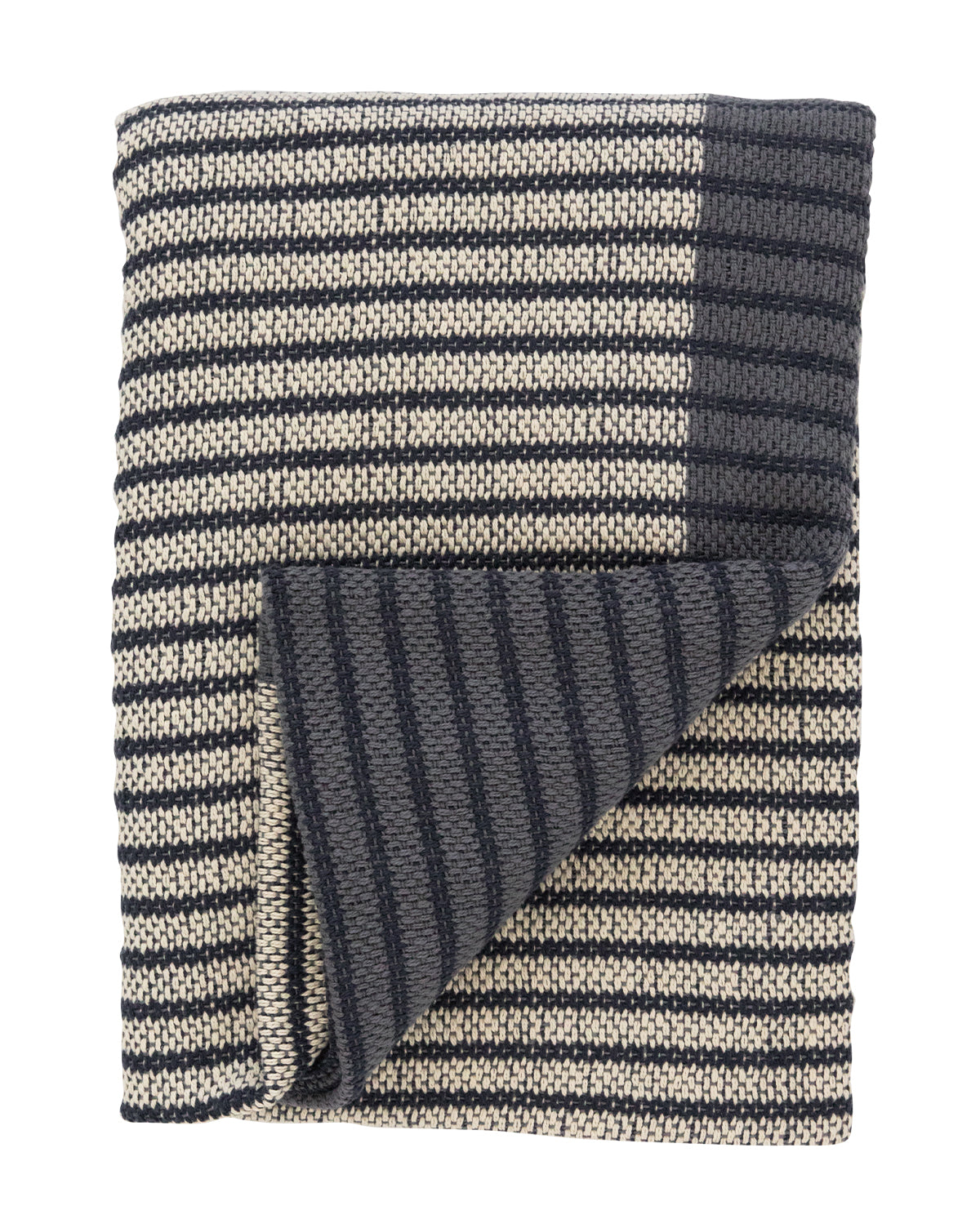 Two-Tone Cotton Throw