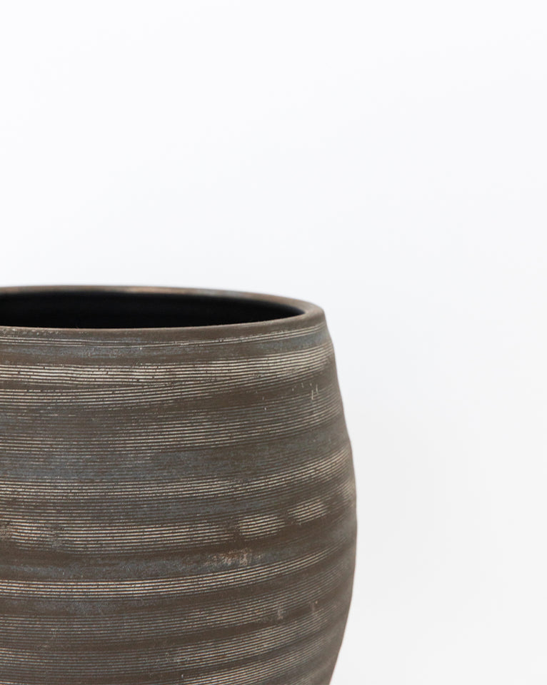 Umber Striped Planter
