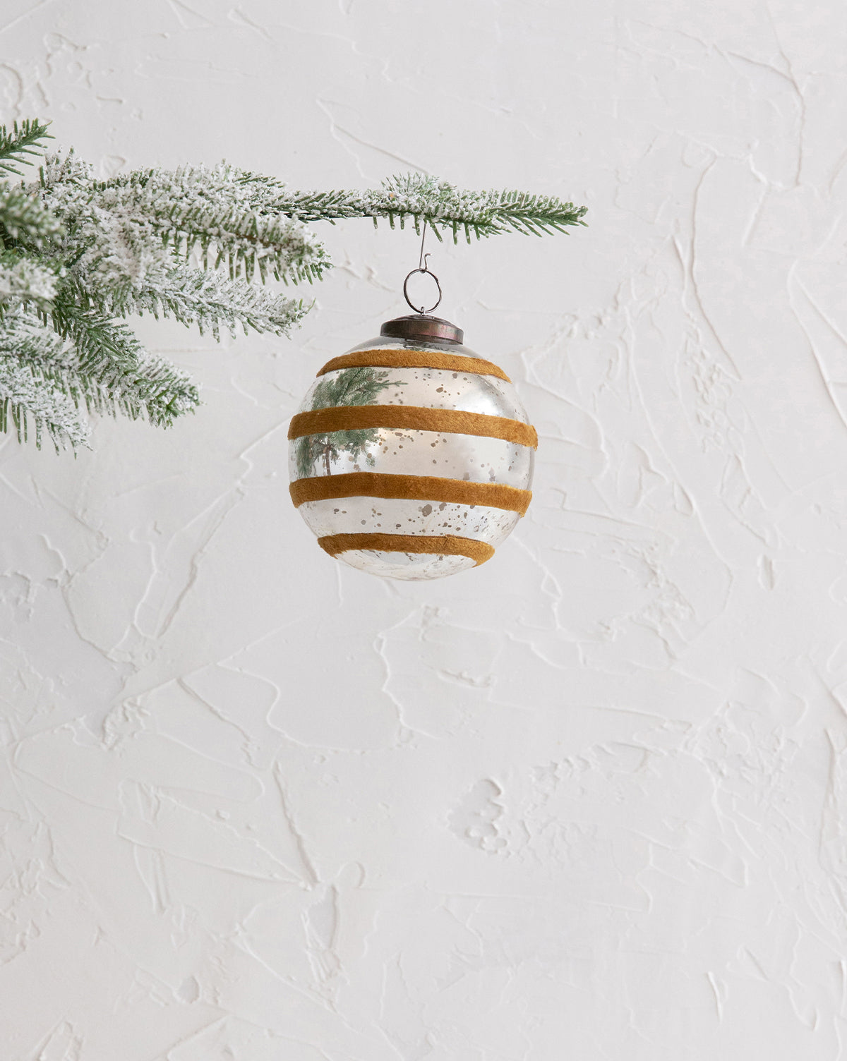 Velvet Striped Ornament