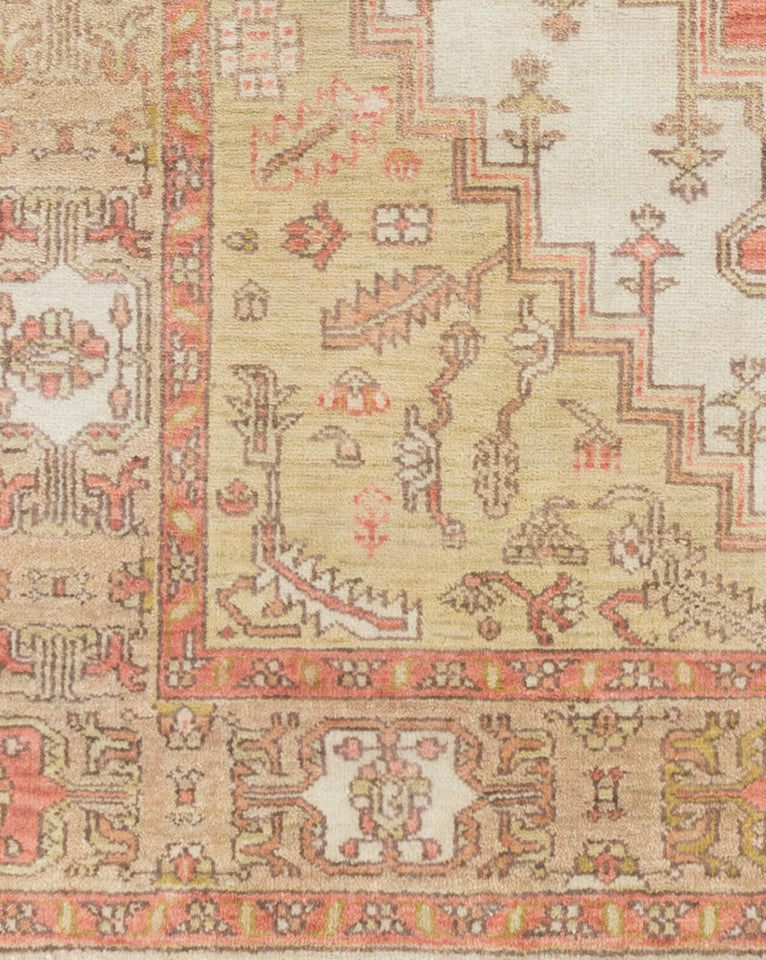 Venice Ivory & Tan Hand-Knotted Rug