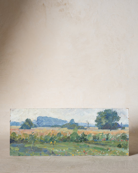 Vintage Spring Fields Painting