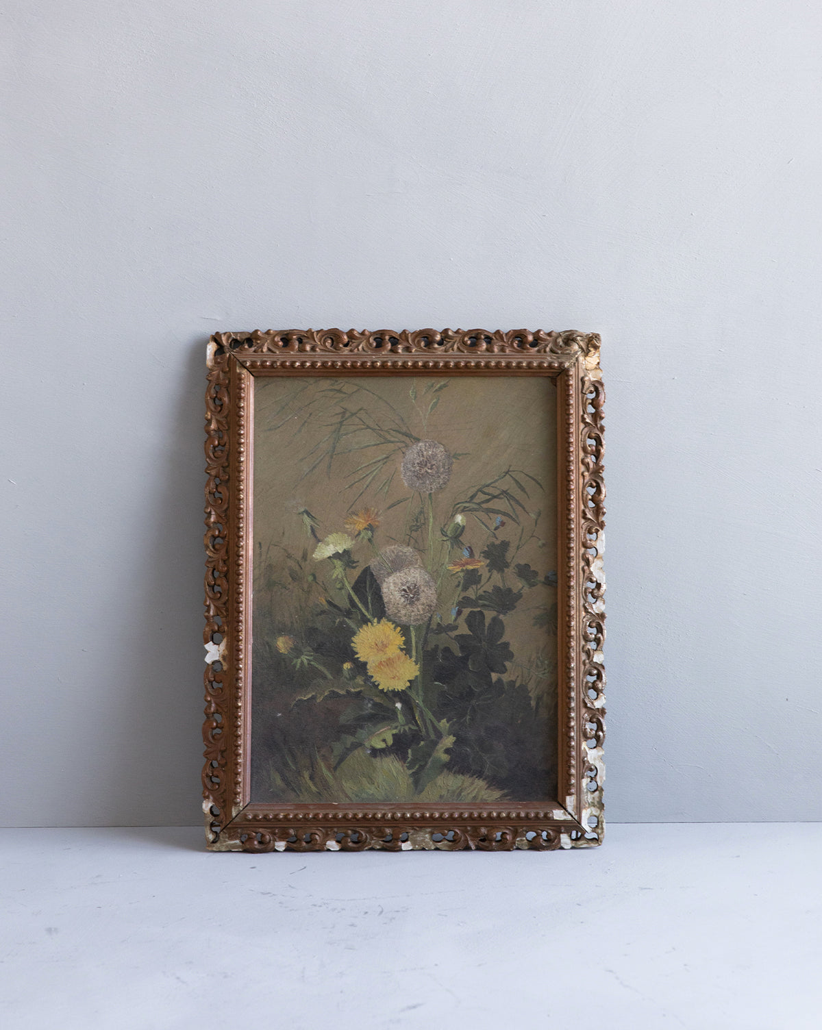 Vintage 1930s Wildflower Painting