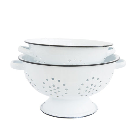 Vintage White Colander (Set of 2)