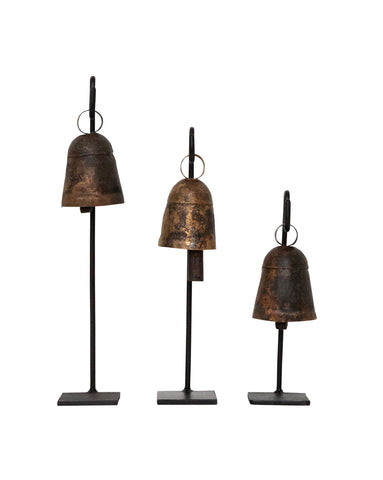 Displayed Vintage Bells (Set of 3)