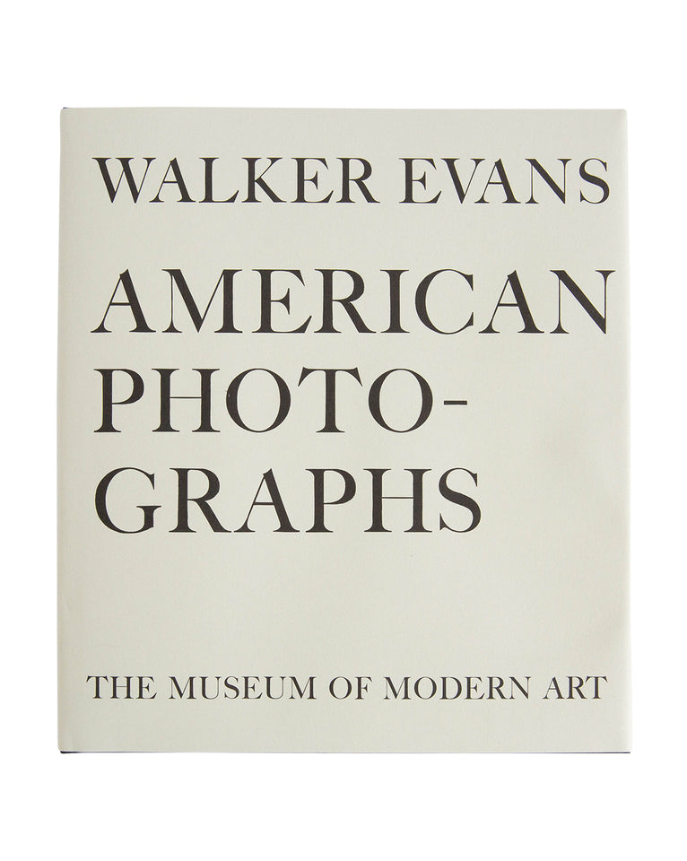 Walker Evans:  American Photographs