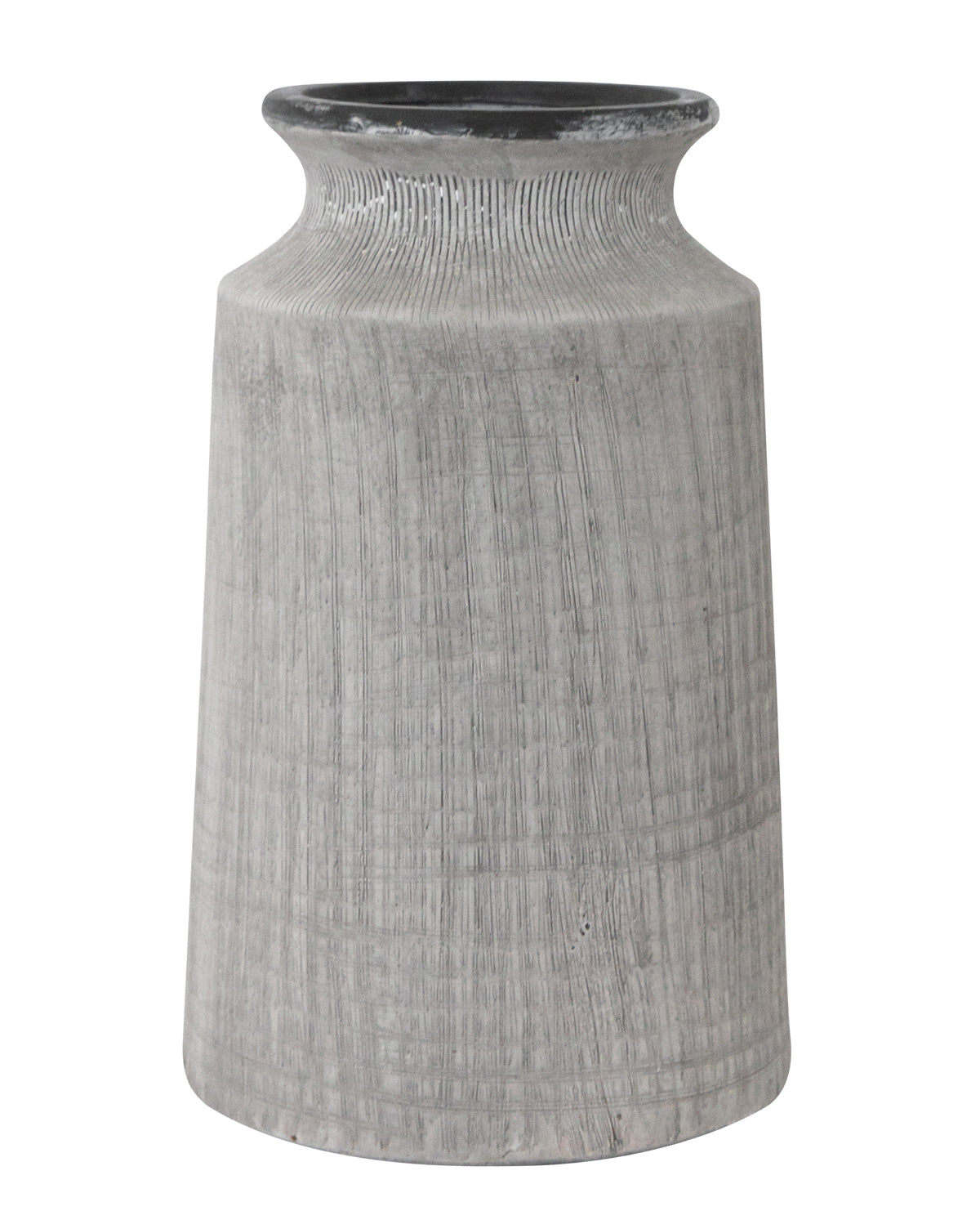Washed Charcoal Flower Vase