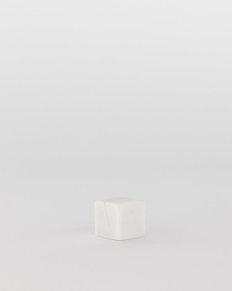 White Marble Display Cube