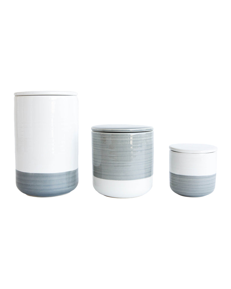 White & Gray Canister