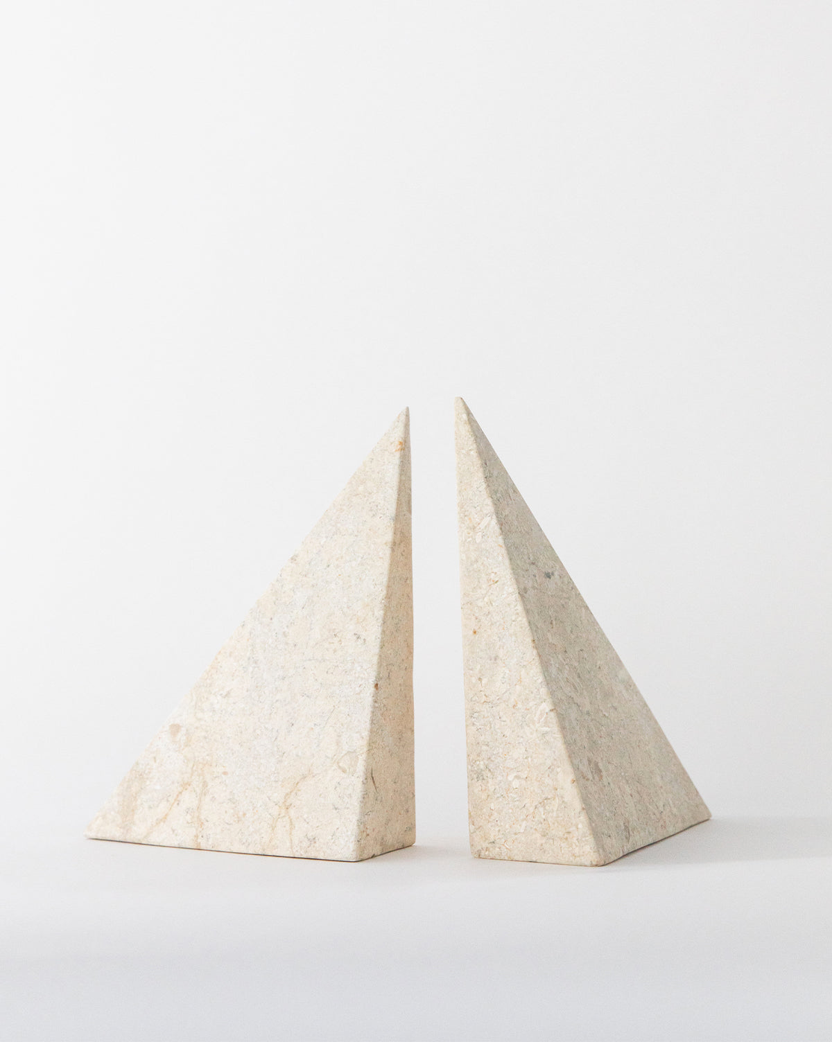 White Marble Bookends (Set of 2)