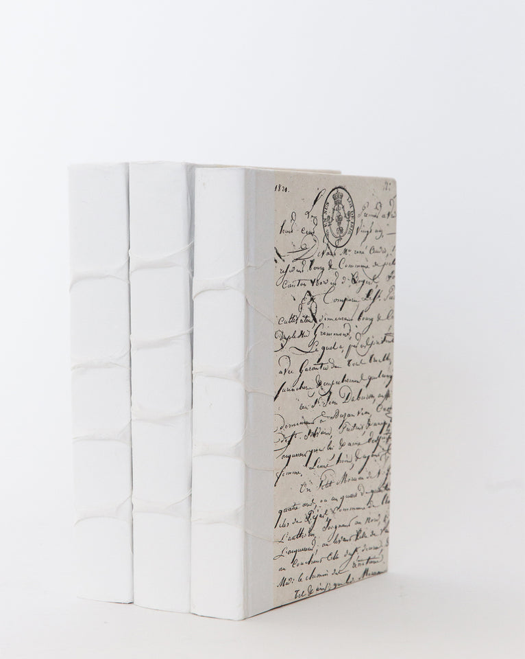 White Solid Spine Book