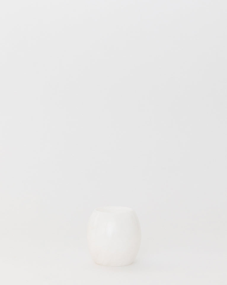 White Stone Votive Holder