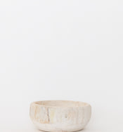 Whitewashed Wooden Bowl