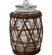 Willow Wrapped Jar