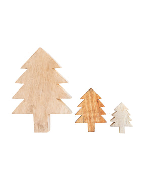 Wooden Holiday Tree Object