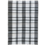 Woven Wool Plaid Throw