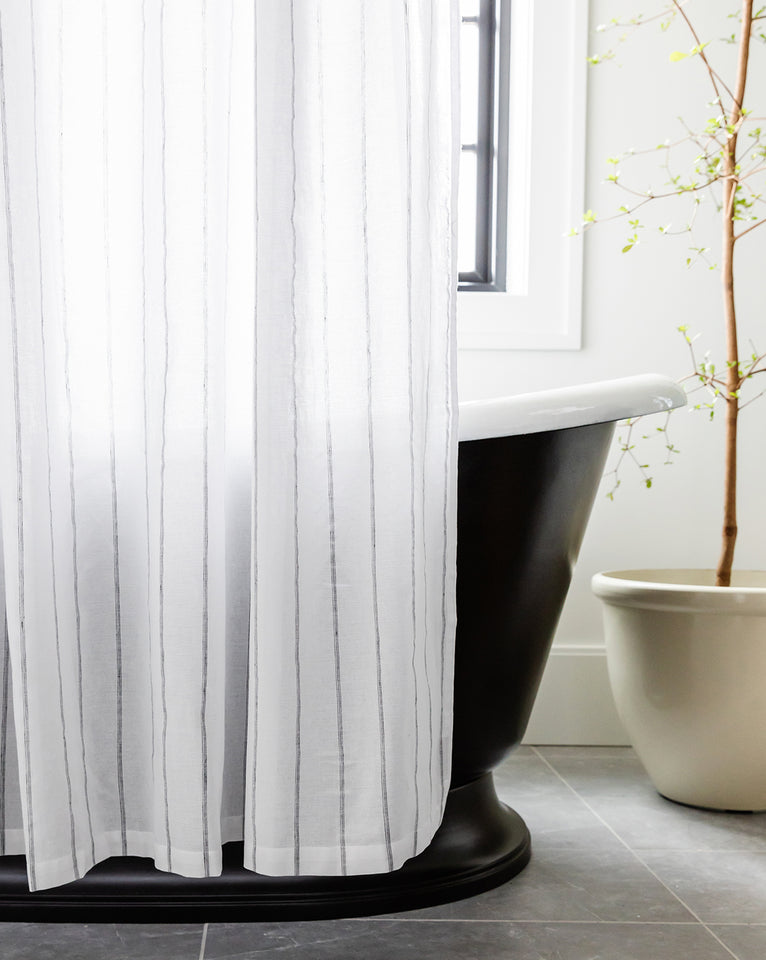 Tomar Striped Shower Curtain