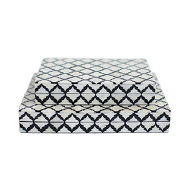Black and White Patterned Boxes (Set)