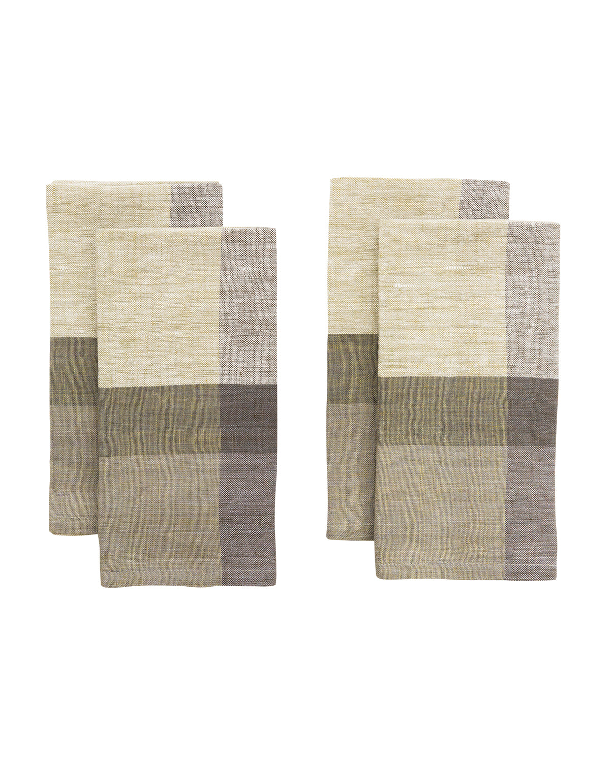 Block-Striped Linen Napkins (Set of 4)
