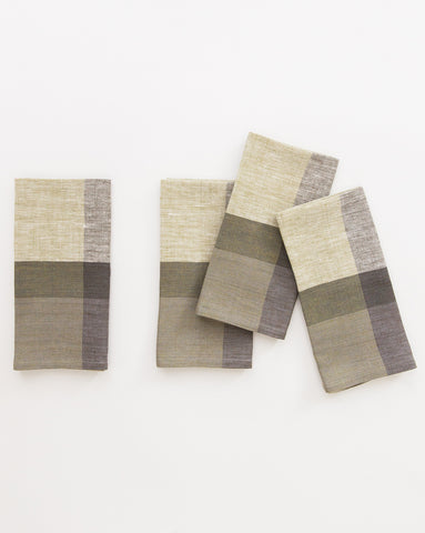 Block-Striped Linen Napkin (Set of 4)