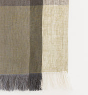 Block-Striped Linen Table Runner