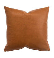 Cognac Leather Pillow