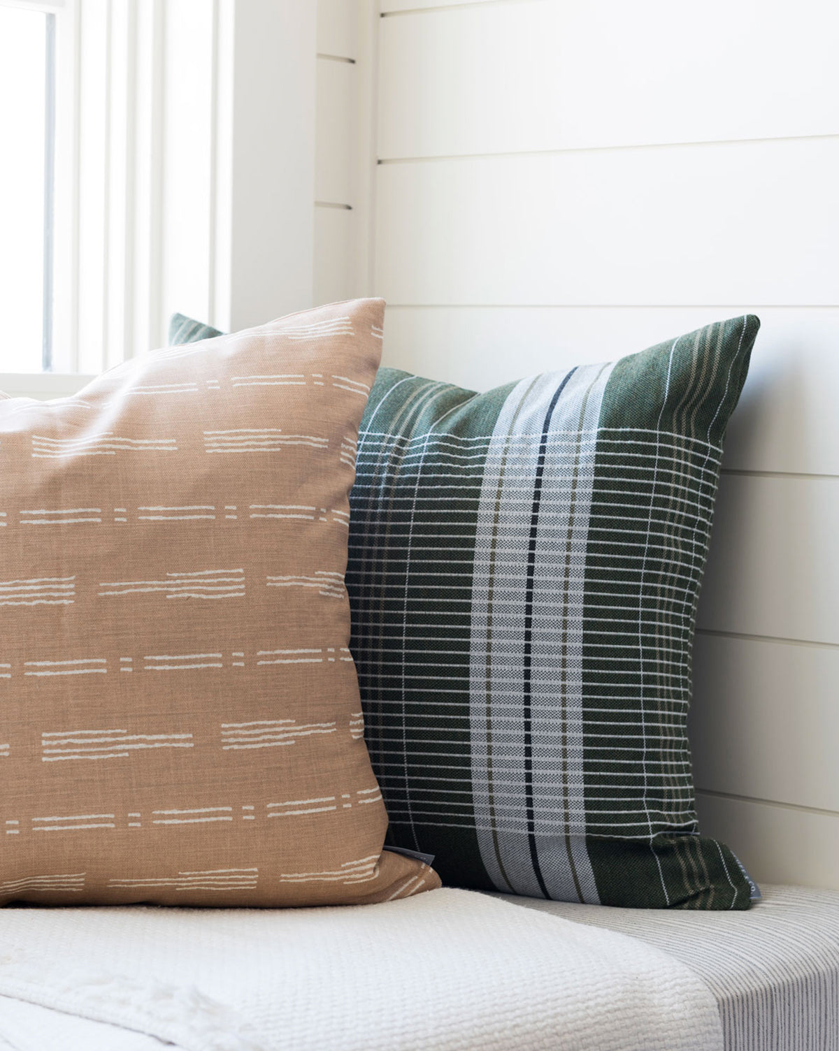 Oxford Woven Plaid Pillow Cover