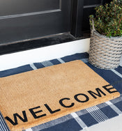 Welcome Edge Doormat