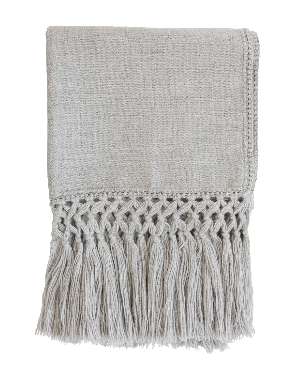 Fringed Alpaca Throw