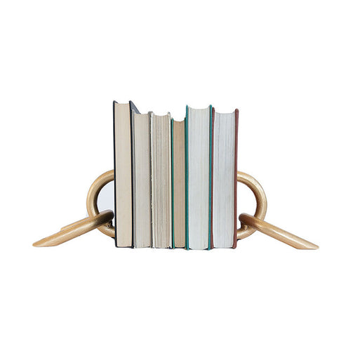 Gold Chain Bookends