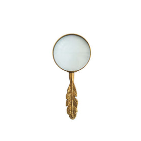 Gold Feather Magnifying Glass