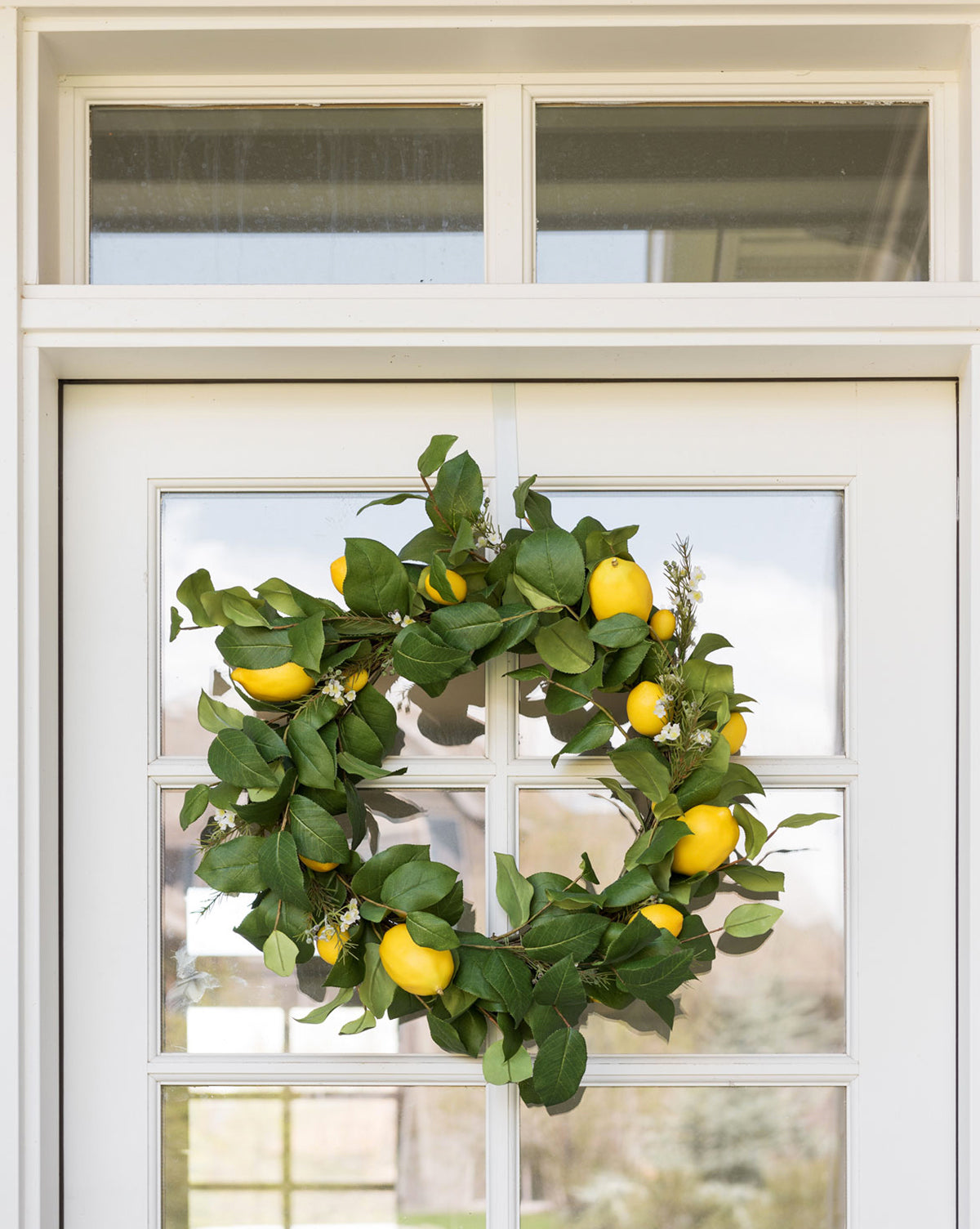 Faux Lemon Star Wreath