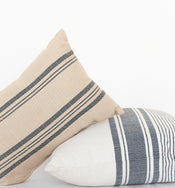 Rowan Stripe Indoor / Outdoor Lumbar Pillow