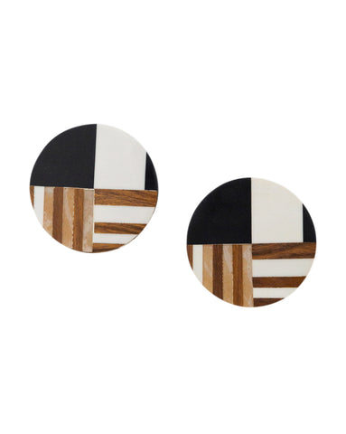 Resin & Wood Coasters (Set of 4)